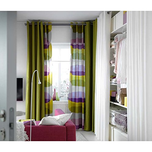 Ikea Mariam Cotton Curtains,2 Panels, Green - Buy Online In UAE.