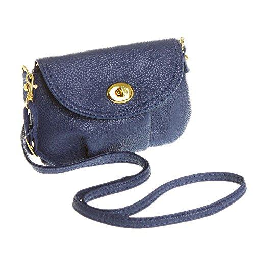 Handbag Shoulder Hobo Bag Vintage Blue Mini Purse Europe Women DELEY 1FXaO