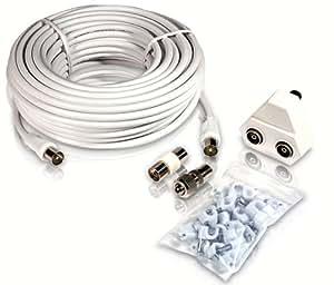 Philips SWV2209W - Cable coaxial para Antena (15 Metros), Blanco: Amazon.es: Informática