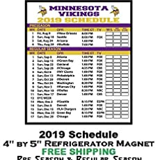 Mn Vikings Schedule 2020.Amazon Com 2019 Tennessee Volunteers Football Schedule