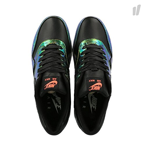 Nike Hommes Air Max 1 Sup Qs Trophy En Cuir Chaussures De Sport Noir