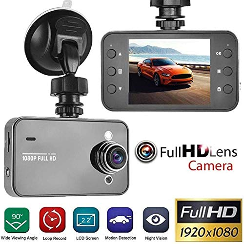 Misszhang-US HD 1080P 2.2 Inch Car DVR Video Recorder Camera Night Vision G-Sensor Dash Cam Grey