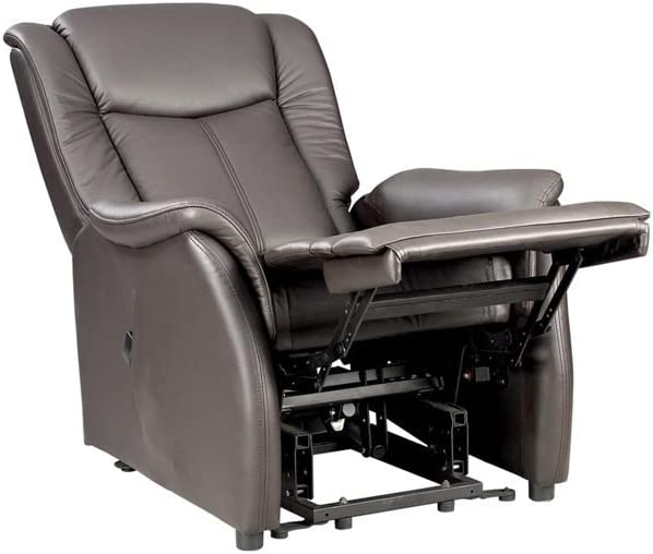Fernsehsessel M braun Leder Relaxsessel TV Sessel mit Aufstehhilfe 2 Motoren g/ünstig
