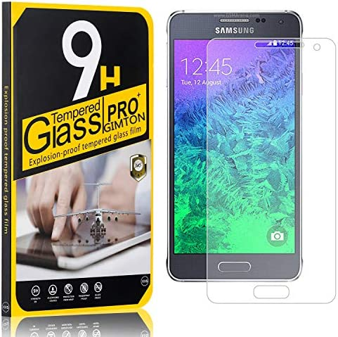 GIMTON Displayschutzfolie für Galaxy Alpha, Ultra klar Schutzfilm aus Gehärtetem Glas, Anti Kratzen Displayschutz Schutzfolie für Samsung Galaxy Alpha, 3 Stück