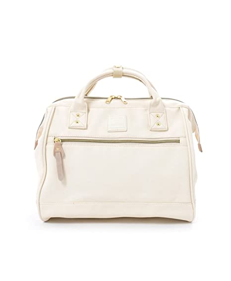 7d70b8d8ace5 Anello Unisex 2 Way Shoulder Handle PU Leather Boston Bag (Ivory)   Amazon.ca  Luggage   Bags