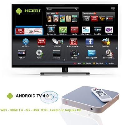 Smart Box Android TV Blanco: flashselection: Amazon.es: Electrónica