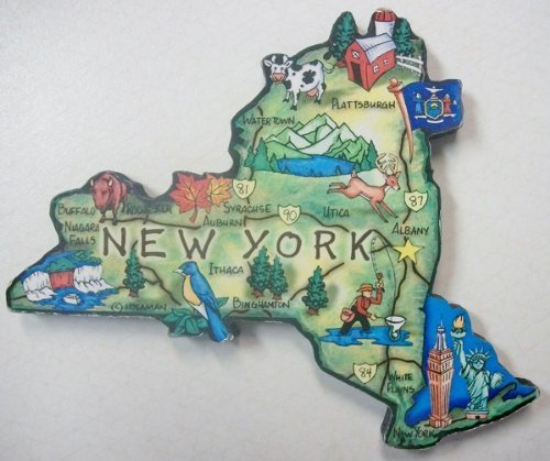 New York the Empire State Artwood Jumbo Fridge Magnet (Refrigerator York New Magnet)