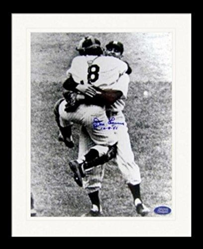 Autograph Warehouse 259617 Don Larsen Autographed Photo - New York Yankees 1956 World Series Perfect Game Celebration 11 x 14 in. Inscribed 10-8-56 Matted & Framed