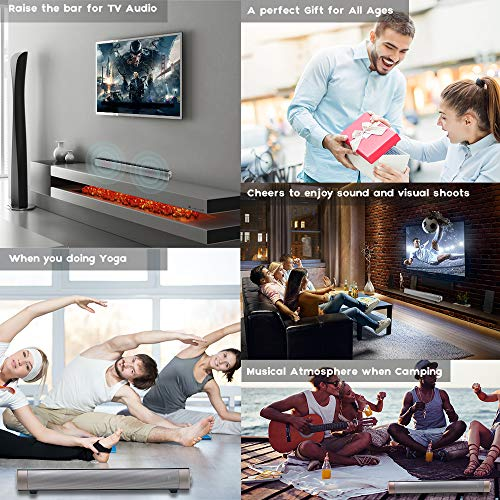 Soundbar TV Sound bar 3D Surround Sound Speaker, Mini Soundbar Home Theater with Remote Control Dual Connection Methods for TV PC Smartphones Music and Movie by Geekroom (Image #3)