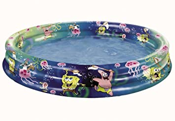 BOB ESPONJA PISCINA HINCHABLE 120 CM DE DIAMETRO: Amazon.es ...