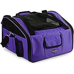 Petcomer Folding Pet Car Seat Carrier Travel Portable Bag for Dog Cat