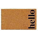 Calloway Mills 102611729NBB Vertical Hello Doormat, Natural, Black