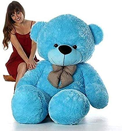 Prime Teddy Lovable Hugable Soft Teddy Bear for Kids & Girls Special Gift for Birthday /Anniversar and Valentine (Blue, 4 Feet)