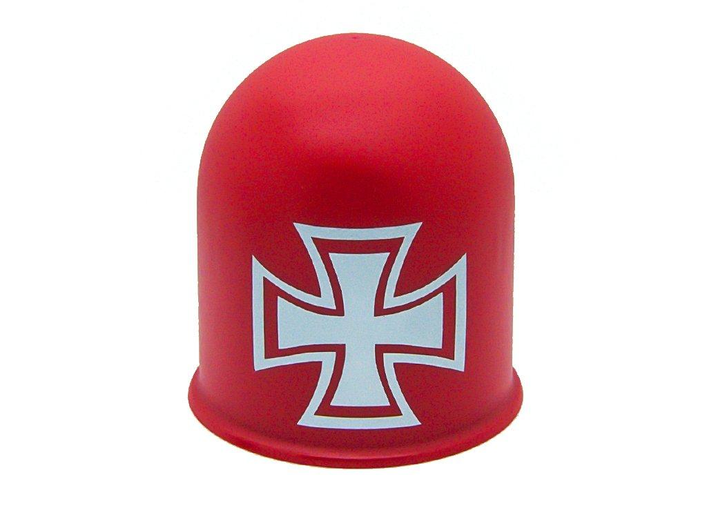 Schutzkappe f/ür Anh/ängerkupplungen Towing Hitch Accessoires Kreuz Cross wei/ß