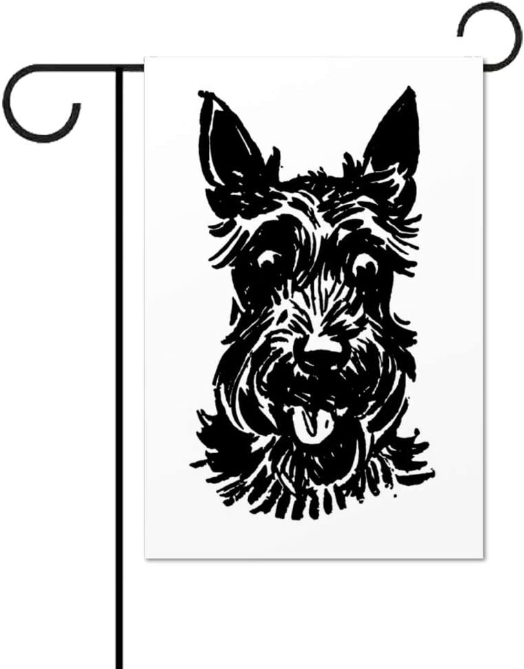 Invinciblefrme Scotland Scottie Dog Decorative Small Garden Flag Double Sided - Outdoor Indoor House Yard Decoration, 12 x 18 inch