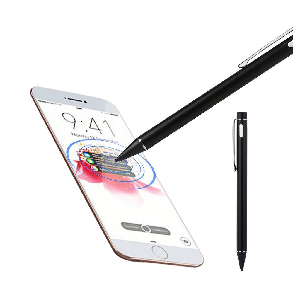 Aobiny Active Stylus Pen, Screen Touch Pen Stylus with USB Charging Wire, for iPhone 6/6s Plus 7/7s Plus (Black)