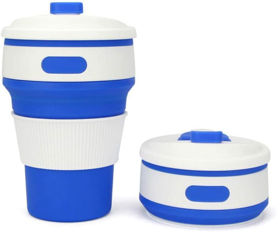 Lot Of 3 Plastic Collapsible Cups With Pull Box In Lid Camping Hiking Travel
