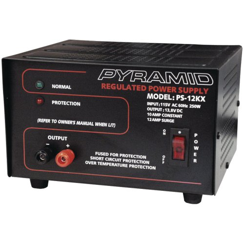 PYRAMID PS12KX Power Supply (115 Volts AC, 60Hz, 250 Watts Input, 10 Amp Constant/12 Amp Surge) Computer, (Pyramid 10 Amp)