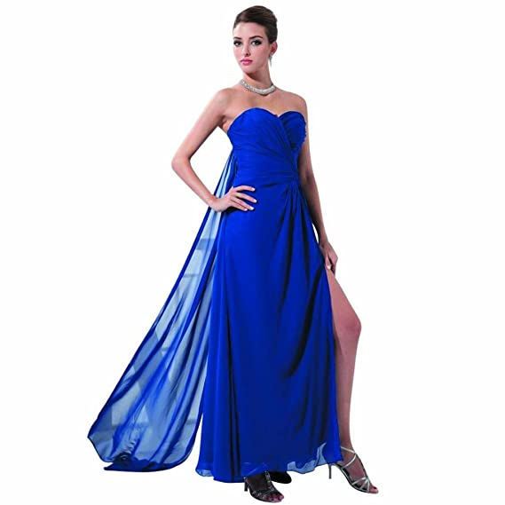 Dearta Womens Sheath Sweetheart Ankle-Length Prom Dresses US 2 Royal Blue