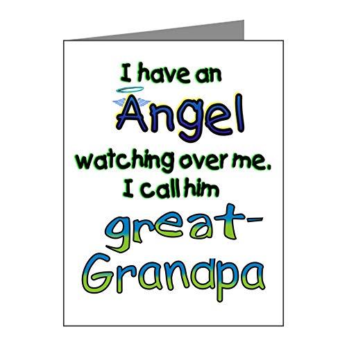 CafePress ANGEL GREAT GRANDPA Blank Note Cards (Pk of 10) (Best Cafepress Great Grandpas)