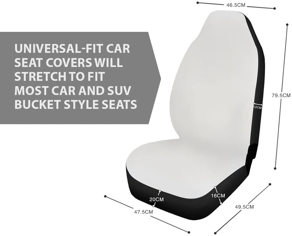 Van Giraffe Sedan SUV Airbag HUGS IDEA Sporty 2 Piece Universal Fits Front Car Seat Covers Vehicle Interior Protectors Accessories