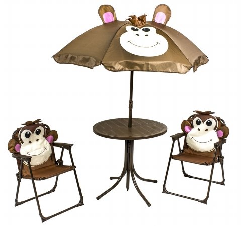 River Cottage Gardens PB102 Kid's Monkey Patio Set 4 Piece Set
