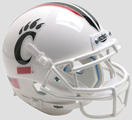 - Schutt Cincinnati Bearcats Mini XP Authentic Helmet White Mask - Licensed NCAA Merchandise