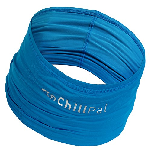 Chill Pal 12 in 1 Multi Style Cooling Band (Blue, Full Size) (Best Cold Weather Vest)