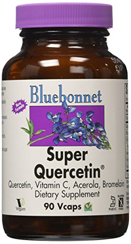 BlueBonnet Super Quercetin 500 mg Vegetable Capsules, 90 Count (Bluebonnet Quercetin Super)