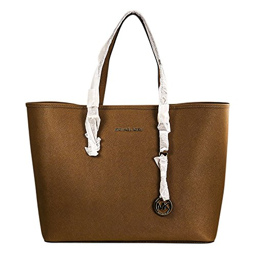 Michael Kors Jet Set Saffiano Medium Tote in Luggage (Michael Kors Handbags In Luggage)