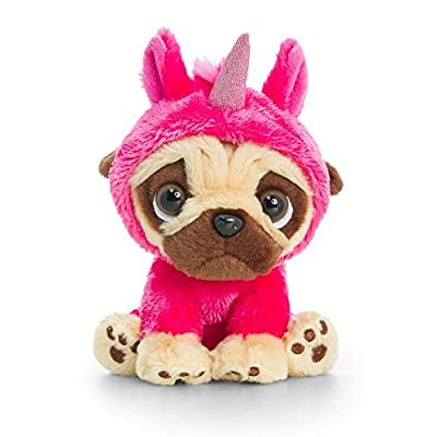 Pugsley Soft Toy Cute Pug Plush Keel Toys 14cm: Toys & Games
