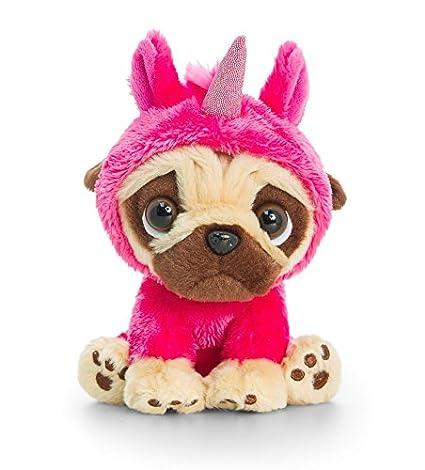 6804fac87e7 Amazon.com  Pugsley Soft Toy Cute Pug Plush Keel Toys 14cm  Toys   Games