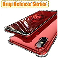 Lokezeep Samsung Galaxy M20 Case Back Cover [Drop Defense Series] Full Body Protective Soft Phone Mobile Cover with Screen Camera Protection Bumper Corner for Samsung M20 (2019) (Transparent)