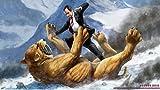 Richard Nixon fighting a Sabertooth Tiger