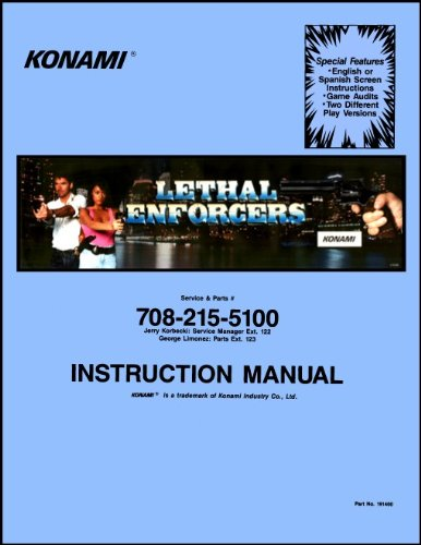 Lethal Enforcers Arcade Game Service & Repair Manual