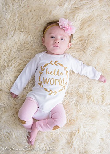 Hello World Newborn Girl - Customize in Pink, Lavender or Black