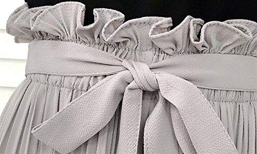 Chiffon Palazzo Libero Leggero Gamba Cute Chic Waist Mieuid Pantaloni Donna Larga Tempo 7 Eleganti Pantaloni High 8 Pantaloni Fashion Estivi Sciolto Elastico Grau Monocromo Pantaloni Uw1HEx
