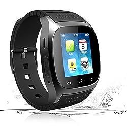 Smart Watch Bluetooth Smartwatch Smart Wrist Phone Watch Touch Screen Fitness Tracker Pedometer Sleep Monitor Sport Watch For All Android Phones Samsung Huawei Motorola Men Women Kids (Black)