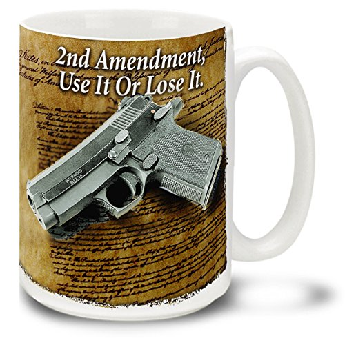 colt-45-pistol-with-second-amendment-15-ounce-coffee-mug