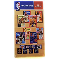 32 NBA Valentine Day Classroom Sharing Cards with Stickers