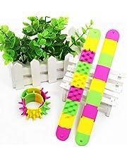 BANGNA Spiky Slap Bracelet Silicone Spike Fidget Bracelets Office School Classroom
