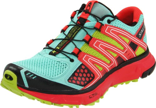 Salomon Women's XR Mission Running Shoe,Celedon/Papaya/Pop Green,7.5 M US