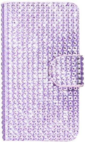 MYBAT Book-Style MyJacket Wallet with Card Slot 828 for Samsung T599 Galaxy Exhibit - Retail Packaging - Purple Diamonds (Phone Wallet Samsung Exhibit)