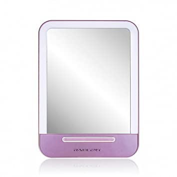 BestFire LED Lighted Makeup Travel Mirror Professional Vanity Mirror Touch  Screen Portable Compact Cosmetic Mirror Table