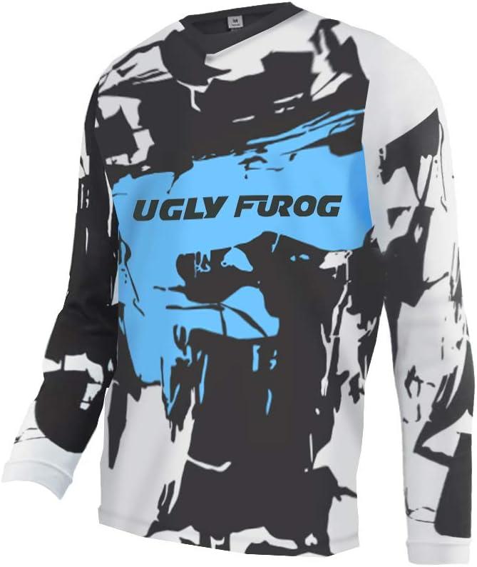 Uglyfrog Trikot MX DH Enduro Fahrradtrikot Jersey Motocross Downhill Trikots Enduro Cross Motorrad MTB Clothes DHL01M