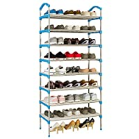 AGGICE 8 Tiers Shoe Racks with Resin Gasket Shoe Storage Orgnizer Cabinet Tower