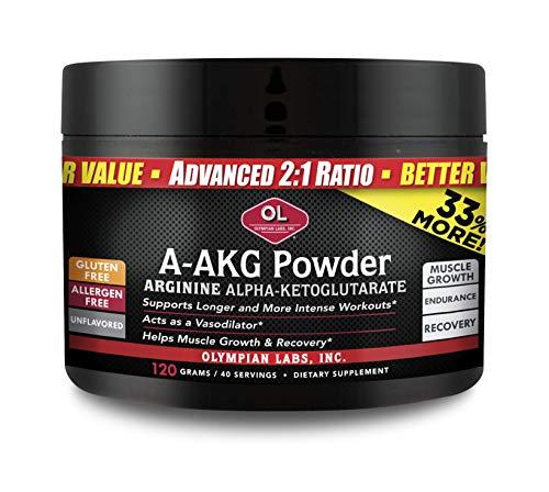 - Olympian Labs A-AKG Powder, 30 servings