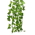 Artificial-Hanging-Plant-80ft-12strands-Silk-English-Ivy-Vine-Garland-Arrangement-Faux-Fake-Flower-Green-Leaves-Wreath-Home-Kitchen-Indoor-Outside-Garden-Office-Wedding-Wall-Banister-Decor
