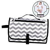 Diaper Changing Pad,Portable Baby Diaper Changing Clutch Waterproof Foldable Changing Station with Cushioned Changing Mat Kit and Wipes Case for Traveling and Outdoors, Toddlers Infants and Newborns