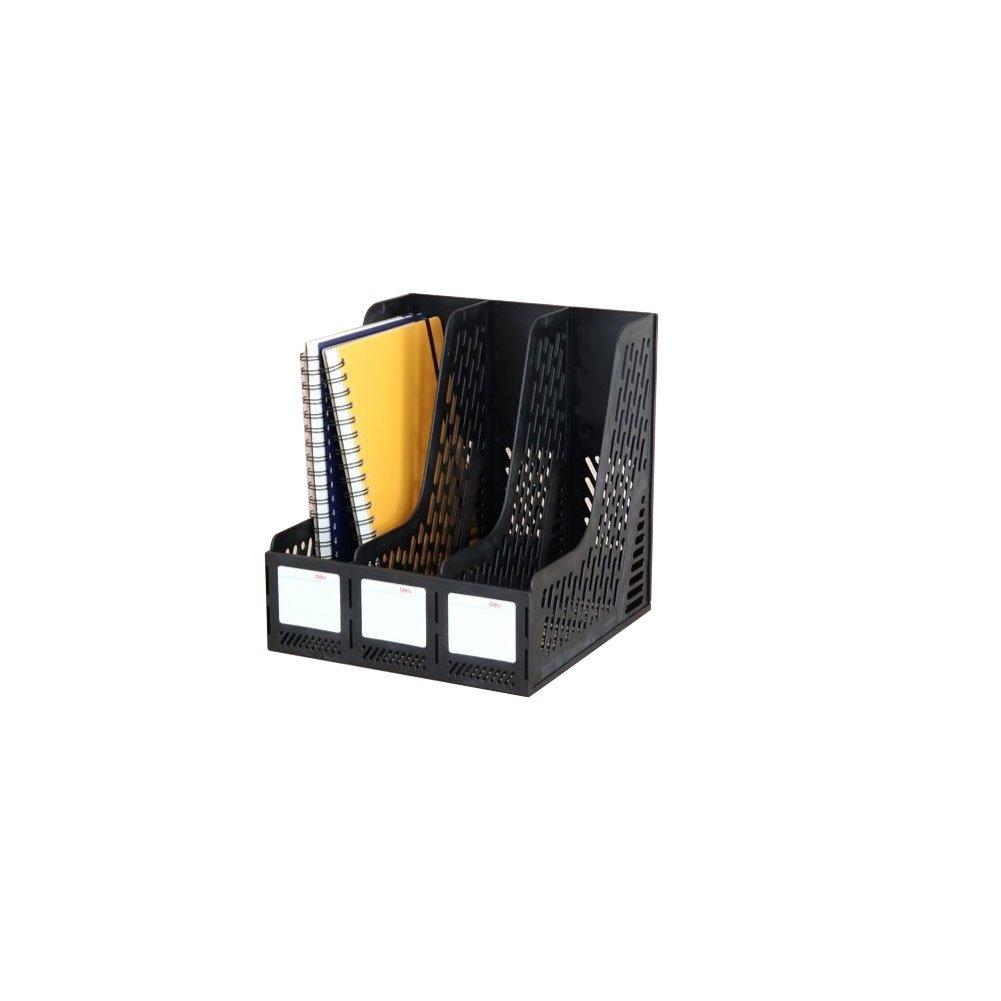 Plastic 3-Compartment Vertical Desktop File Organizers